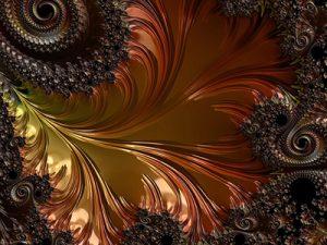 Metaux - cuivre fractal - Agnes123